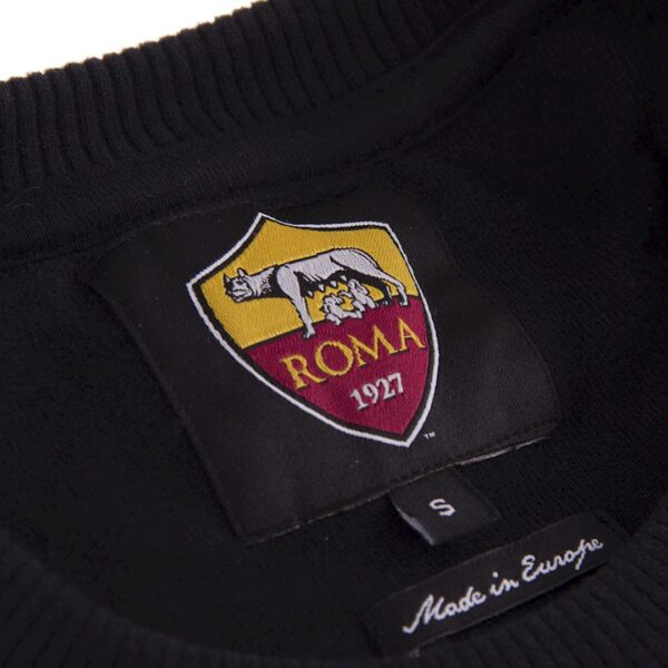 AS Roma Black Out Retro Logo Sweater 4