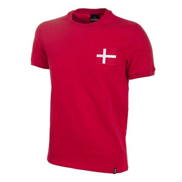 Denemarken 1970's Retro Voetbalshirt