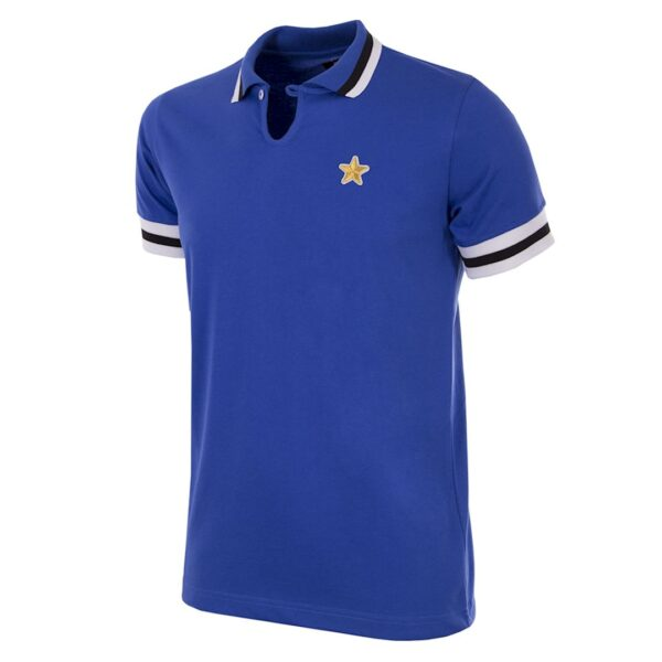 Juventus 1976 - 77 Uit Coppa UEFA Retro Voetbalshirt