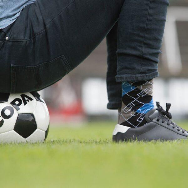 Argyle Football Pitch Sokken | Zwart-Blauw-Grijs 8
