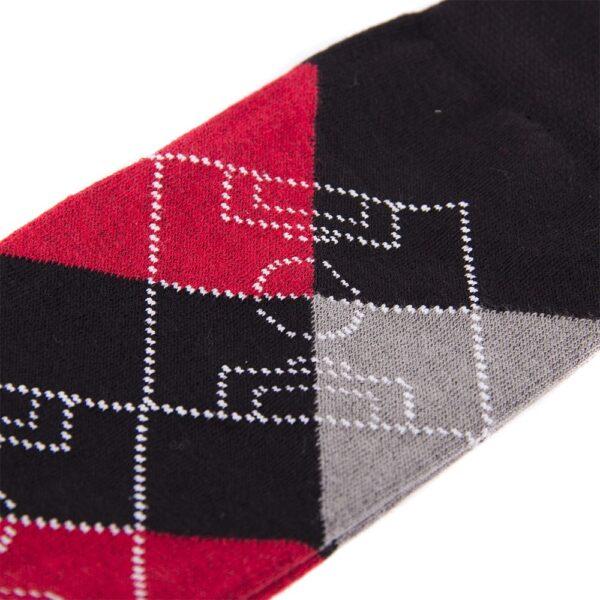 Argyle Football Pitch Sokken | Zwart-Rood 4