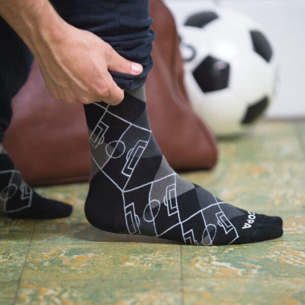 Argyle Football Pitch Sokken   Zwart-Grijs 8