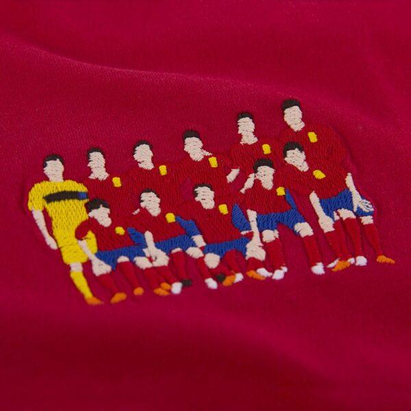 Spanje 2004 Europees Kampioen Geborduurd T-Shirt 2