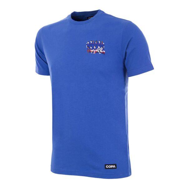 Frankrijk 2000 Europees Kampioen Geborduurd T-Shirt