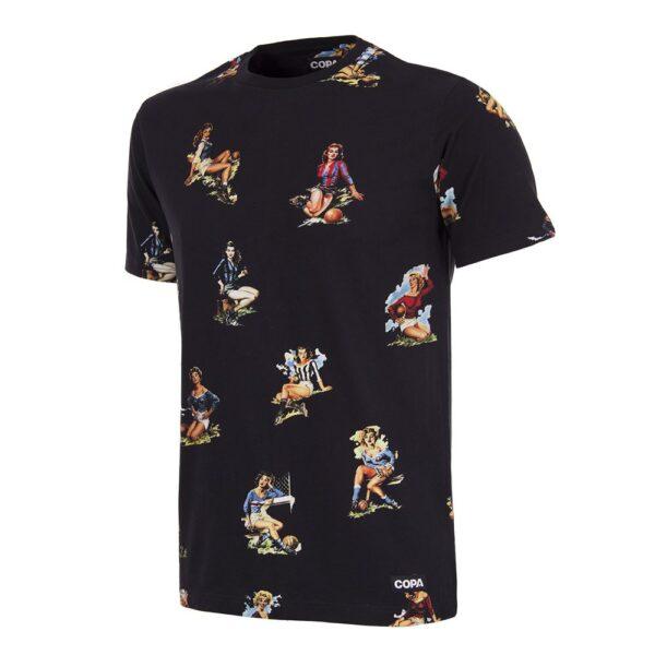 Calcio Donna T-Shirt Zwart